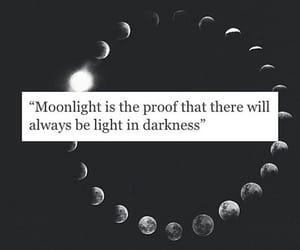 quotes, moon, and light image