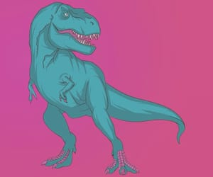 animal, boy, and dinosaur image