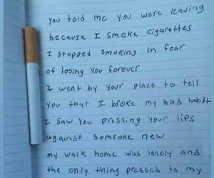 cigarette, sad, and quotes image
