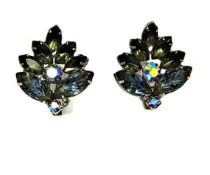 etsy, marquise rhinestone, and clip on earrings image