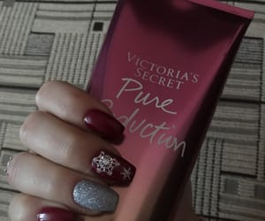glitter, rednails, and nails image