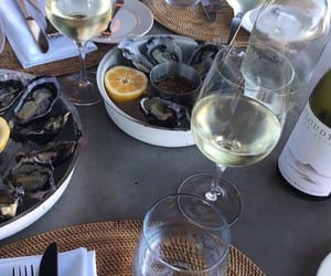 food, wine, and oysters image