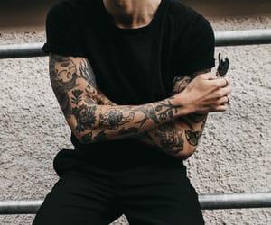 tattoo, black, and boy image