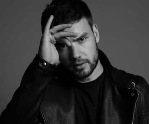 liam payne, one direction, and black and white image