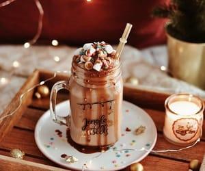 lights, christmas, and coffee image