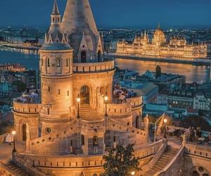 city, architecture, and budapest image