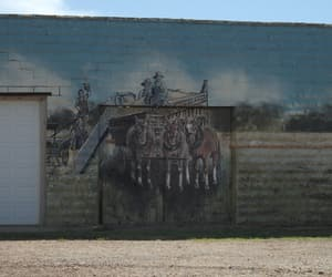 horses, mural, and oklahoma image
