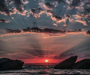 sunset, sky, and nature image