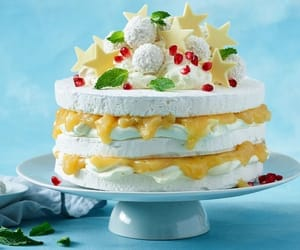 dessert, pavlova, and recipe image