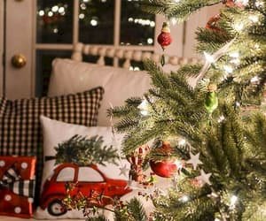 christmas, interior, and lights image
