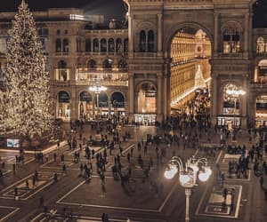 lights, city, and milan image