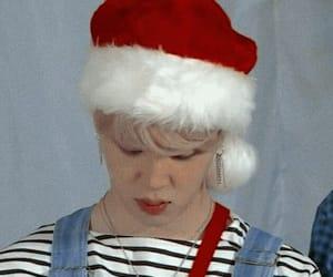 jimin, bts, and christmas image