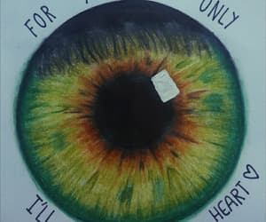 drawing, eye, and Lyrics image