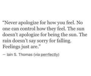quotes, feelings, and apologize image
