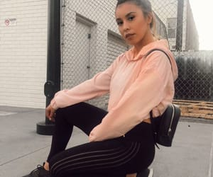 blonde, fall fashion, and hoodie image