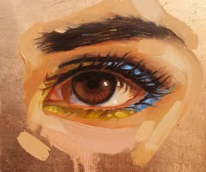 art, eye, and beauty image