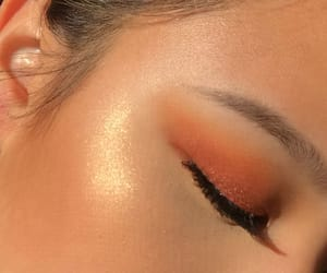 eyeshadow, gold, and highlight image