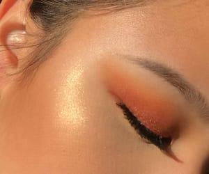 eyeshadow, glow, and gold image