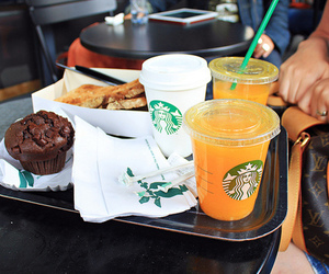 muffin and starbucks image