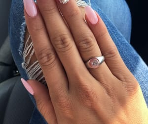 luxury, nails, and pink image