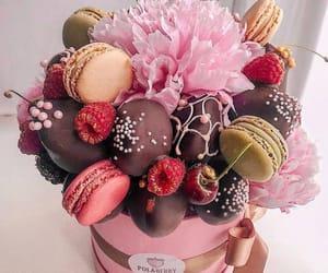 cherry, macarons, and chocolate image