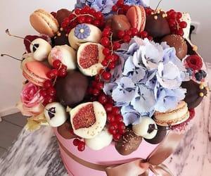 cherry, macarons, and box image