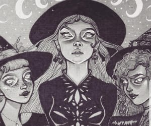 art, blackandwhite, and Witches image