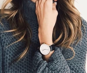 fashion, watch, and hair image