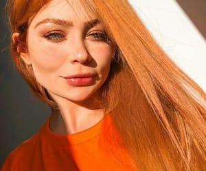 ginger, hair, and laranja image