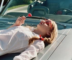 car, lolly, and glasses image