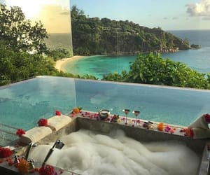 bath, luxury, and view image