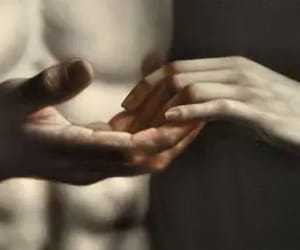 art, hands, and pale image