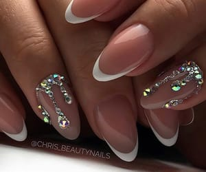 claws, french, and nail art image