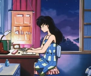 aesthetic, writing, and anime image