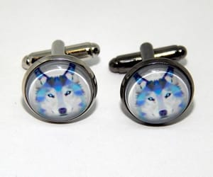 etsy, wolves, and wedding cufflinks image