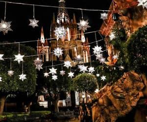 christmas, christmas lights, and guanajuato image