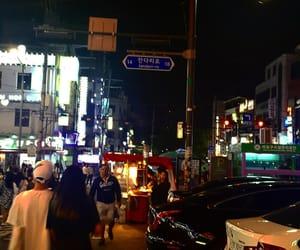 lights, seoul, and travel image