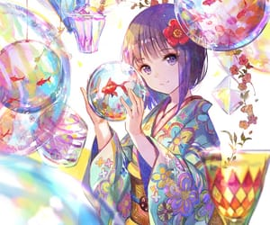 anime, colourful, and draw image