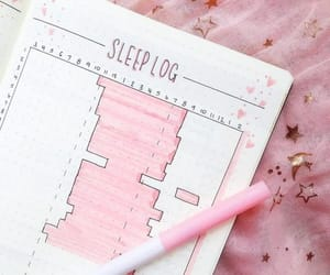 bujo, pink, and sleep log image
