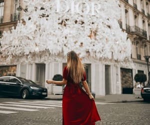 blogger, christmas tree, and dior image