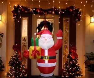christmas, santa claus, and christmas tree image
