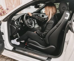 benz, blonde, and car image