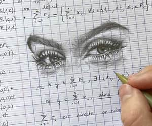 art, eyes, and math image