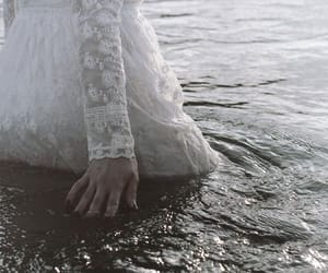 girl, water, and dress image
