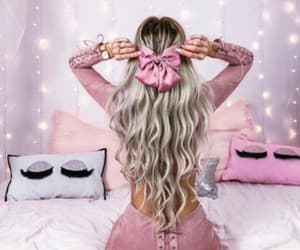 girl, hair, and lights image