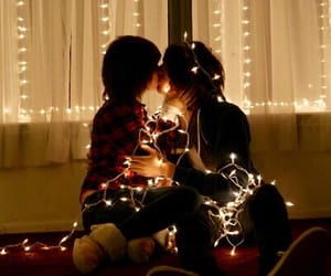 christmas, couple, and cute image