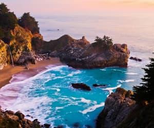 beach, california, and summer image