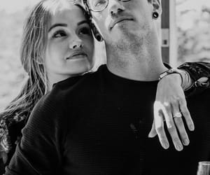 debby ryan, josh dun, and black and white image