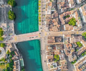 aerial photography, city, and landscape image