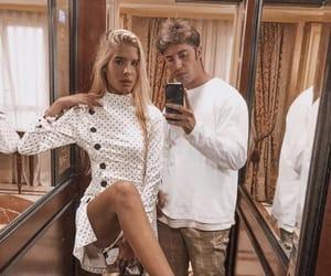 blonde, fashion, and couple image